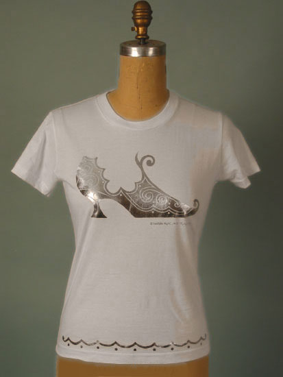 Barbra Music Shoe Design T-Shirt: T-shirts with shoe prints