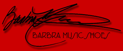 Barbra Music Shoes: hand-made shoe greeting cards and hand-painted greeting cards, shoe design T-shirt and custom shoe design