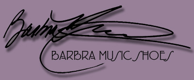 Barbra Music Shoes: hand-made shoe greeting cards and hand-painted greeting cards
