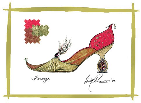 Barbra Music Shoes                 greeting cards: Firenze Paper Shoe greeting cards